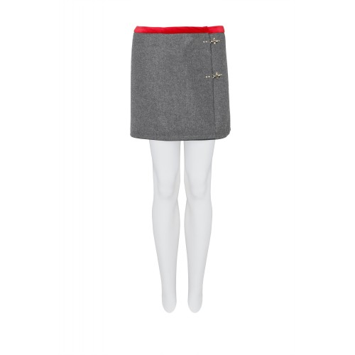 MINISKIRT WITH SIDE ICONIC METAL HOOKS FAY
