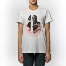 T-Shirt Fashion To Max Bianca Con Stampa Frontale