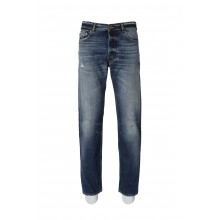 WASHED JEANS IN SOLID BLUE COLOR GOLDEN GOOSE