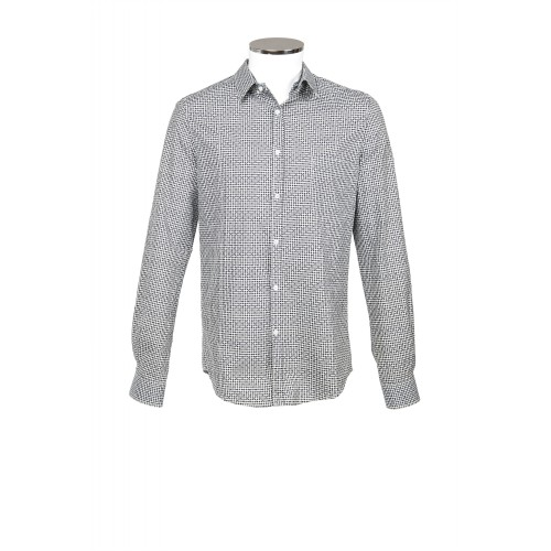 COTTON SHIRT LONG SLEEVE BLACK AND WHITE CHECKED GOLDEN GOOSE
