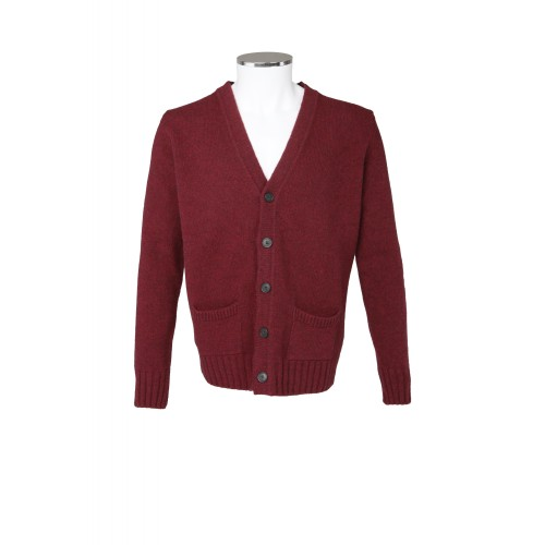 CARDIGAN IN LANA BORDEAUX MC RITCHIE