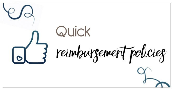 Quick reimbursement policies